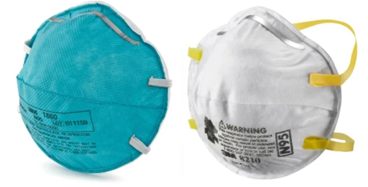 N95 Masks manufactured by 3M